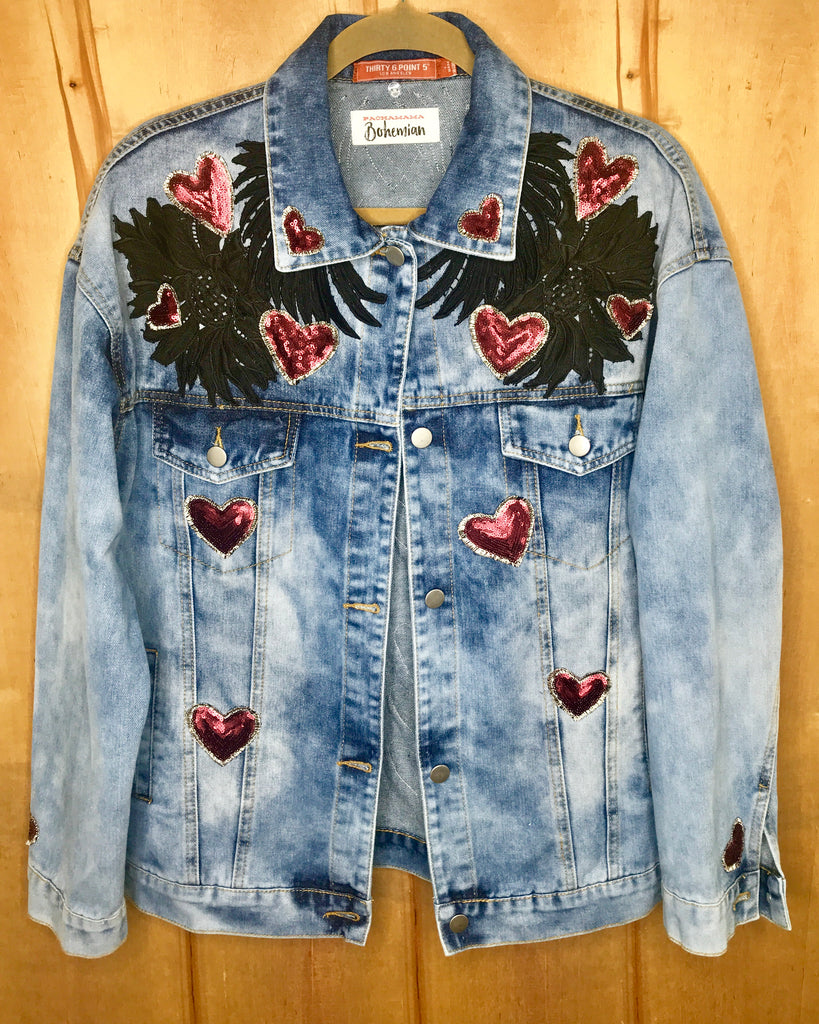 Chakras Denim Jacket Oversized Fit