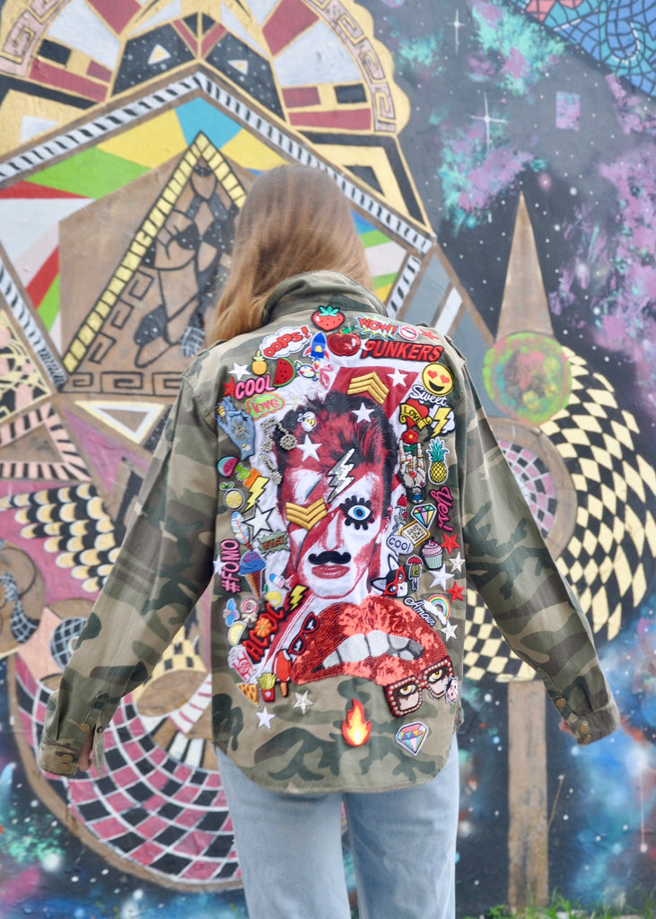 NEW Rock Bowie Camo Jacket