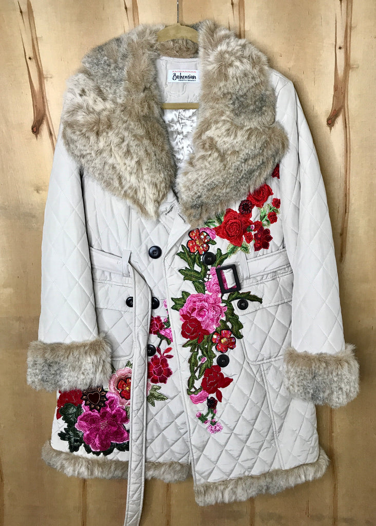 Angels and Flowers Coat/ Long Jacket