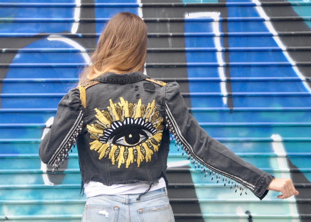 Protected Evil Eye Denim Jacket