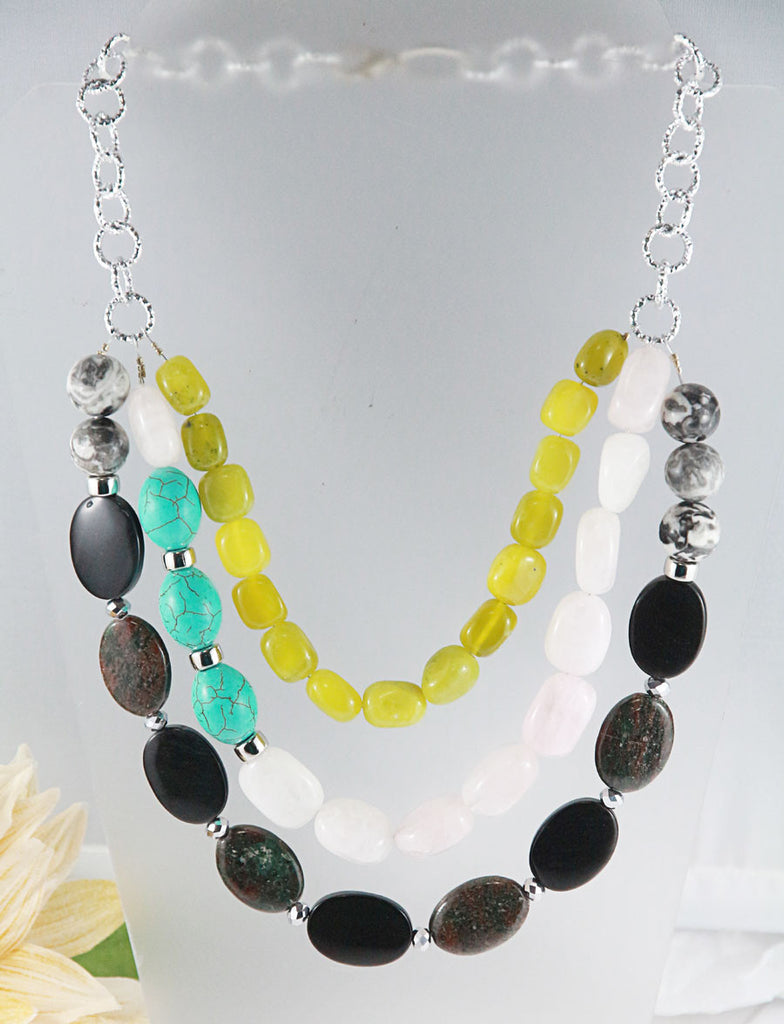 Multi-strand Gemstone Necklace