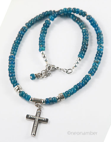 Kyanite Cross Necklace