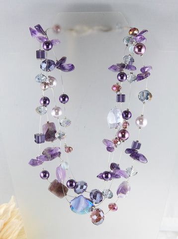 The Amethyst Cluster Necklace