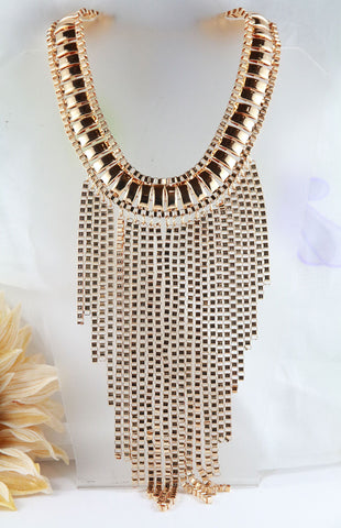The Gold Fringe Necklace