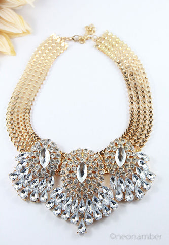 The Peacock Statement Necklace