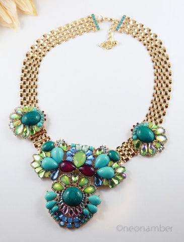 Spring in Bloom Statement Necklace