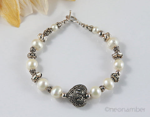 Bridesmaid Heart Bracelet