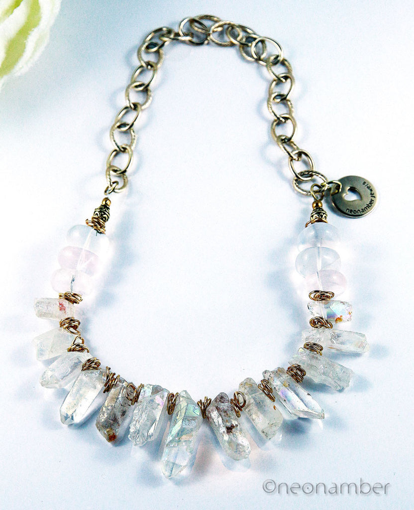 Ice and Rocks Statement Necklace
