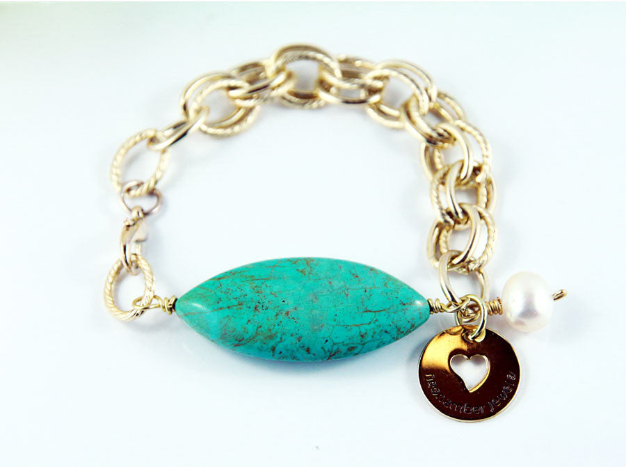 The Dew Turquoise Chain Bracelet