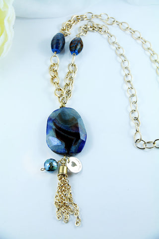 Blue Lagoon Statement Necklace