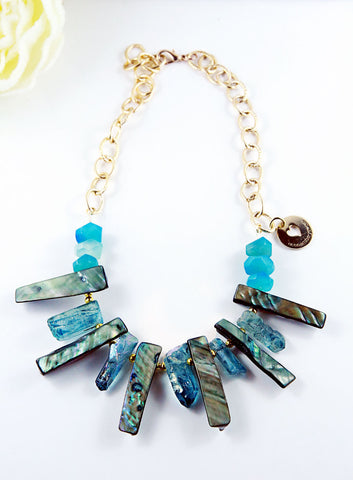 The Blue Waves Statement Necklace