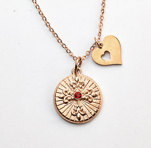 Faith and Love Charm Necklace