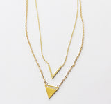 Victoria V Bling Layered Necklace