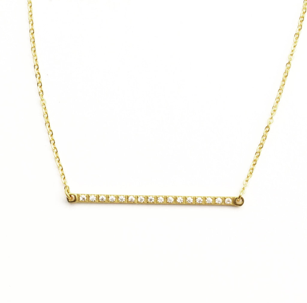Zircon Bar Necklace