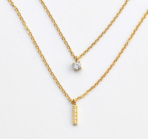 Dot and Drop Necklace