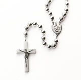 Silver Tone Rosary Prayer Beads