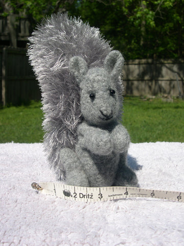 Knitted/Felted Gray Squirrel