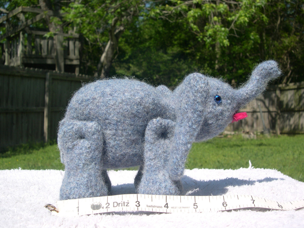 Knitted/Felted Elephant