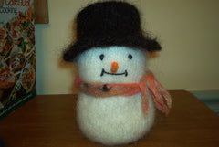 Knitted/Felted Snowman