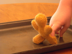 Knitted/Felted Gingerbread Man