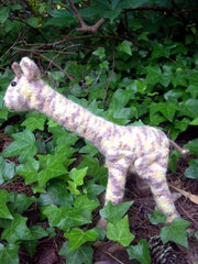Knitted/Felted Giraffe