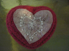 Knitted/Felted Valentine Heart Box