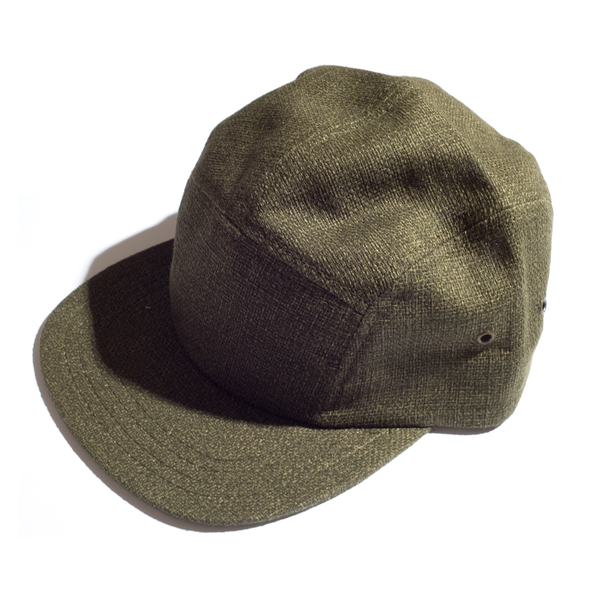 MEYVN 5 PANEL CAMP CAP IN HOPSACK GREEN
