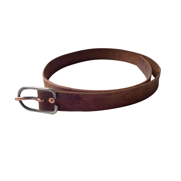 CAUSE AND EFFECT HORSE HIDE BELT, NATURAL, 34