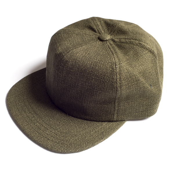 MEYVN 6 PANEL BASEBALL CAP IN HOPSACK GREEN
