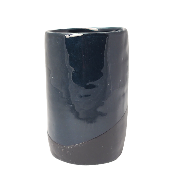 UP IN THE AIR SOMEWHERE NAVY/BLACK RUBBER DIPPED CUP