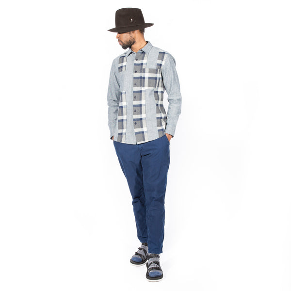BLUE BLUE JAPAN INDIGO FLANNEL CUTOVER SHIRT