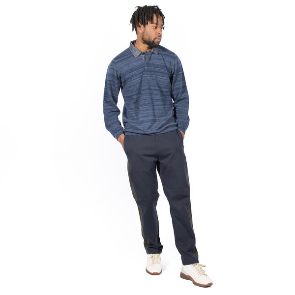 TS(S) HEATHER WOOL DOUBLE YARN KNIT RUGBY SHIRT