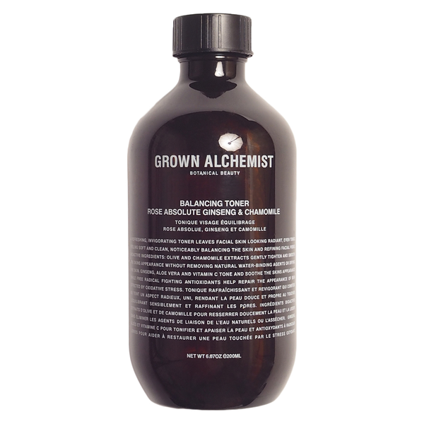 GROWN ALCHEMIST BALANCING TONER, ROSE, ABSOLUTE GINSENG & CHAMOMILE, 200ML