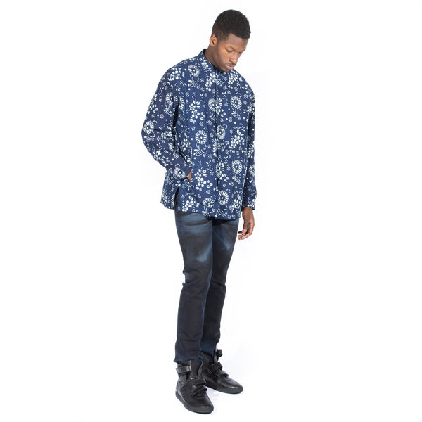 NEEDLES ORIENTAL BUTTON UNITY SHIRT