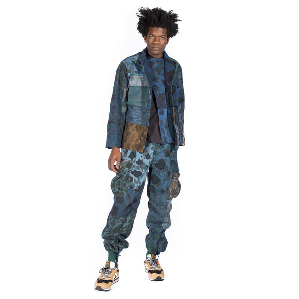 NEEDLES CAMOUFLAGE BDU SHIRT