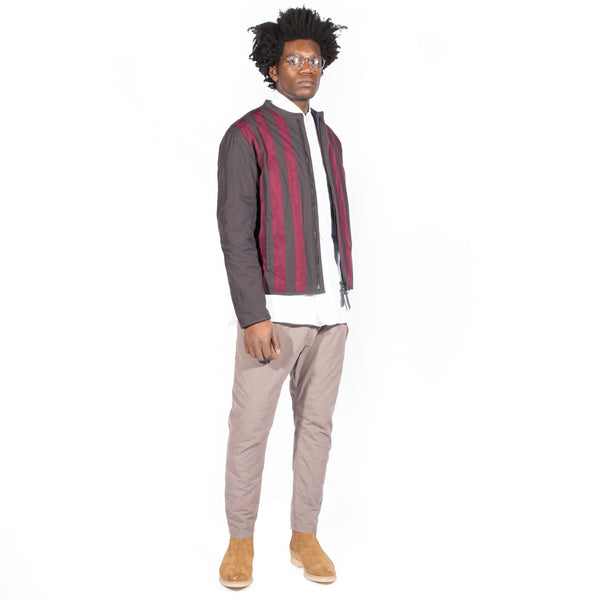 ROBERT GELLER THE GROS-GRAIN STRIPE JACKET