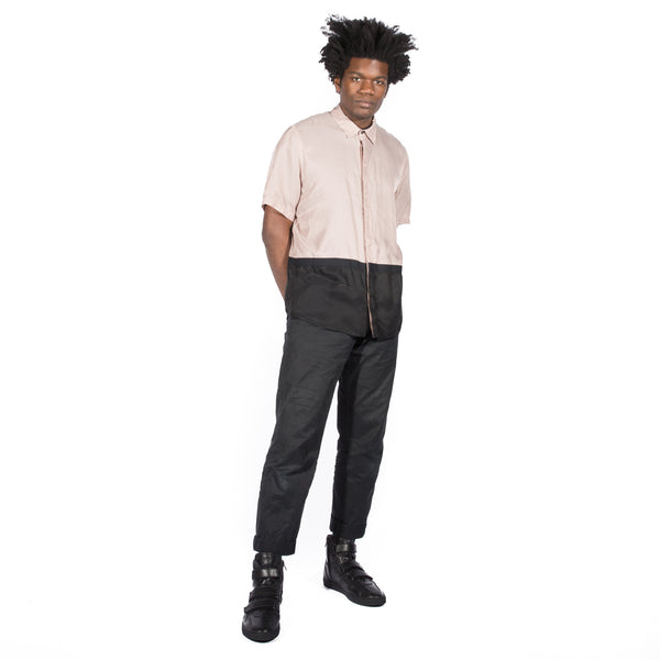 ROBERT GELLER THE TWO TONE TAPED S/S SHIRT