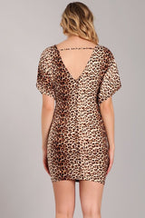 Leopard Print Dress with Knotted Detail