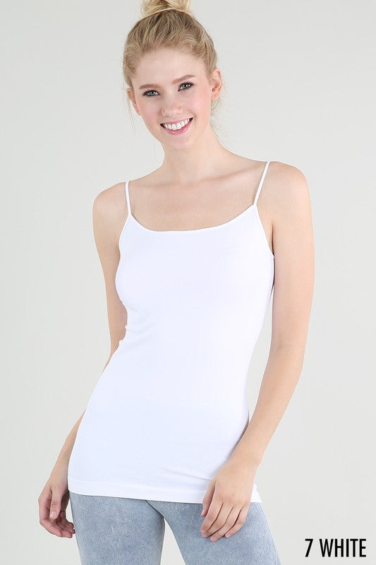 Long Length Camisole - White