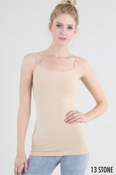 Long Length Camisole - Stone