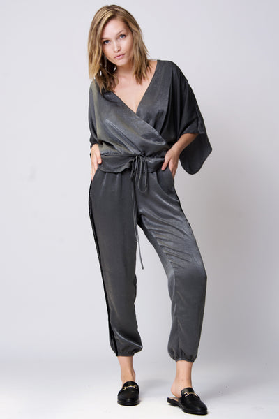 Moscow Pant - Charcoal Satin