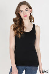 Plain Jersey Tank Top - Black