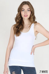 Plain Jersey Tank Top - White