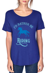 I'd Rather Be Riding Graphic T - Navy