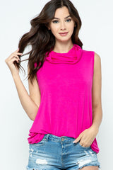 Top with Face Covering - Fuchsia