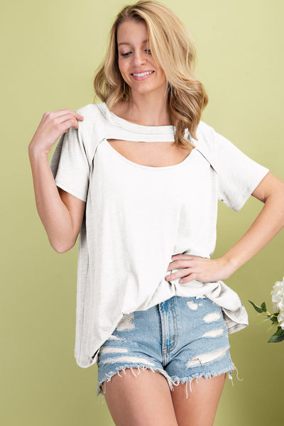 Front Cut Out Top - Off White