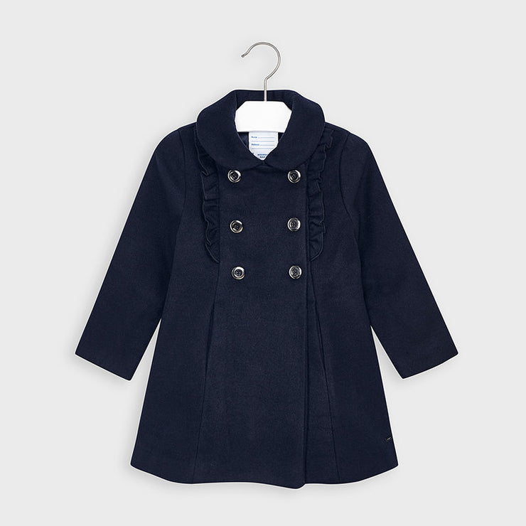 Navy Ruffle Coat
