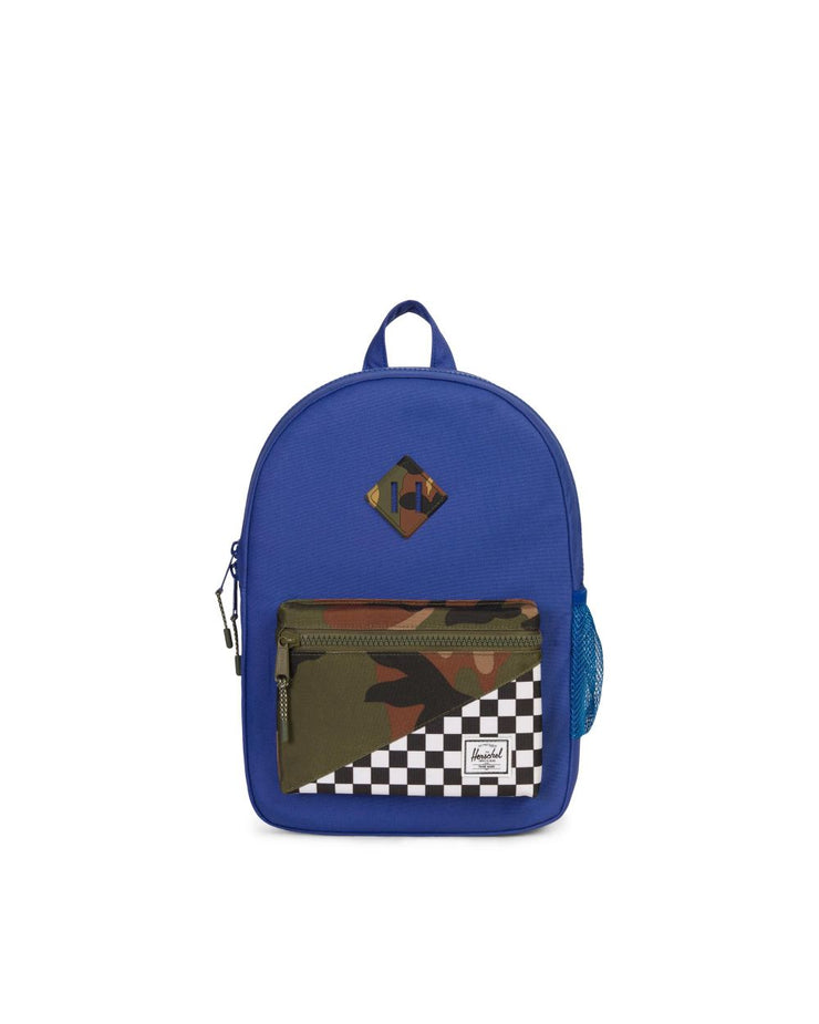 checkered camo heritage kids backpack