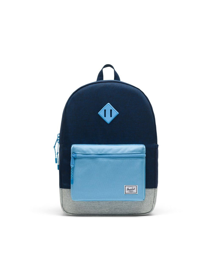 navy and light blue heritage xl youth backpack