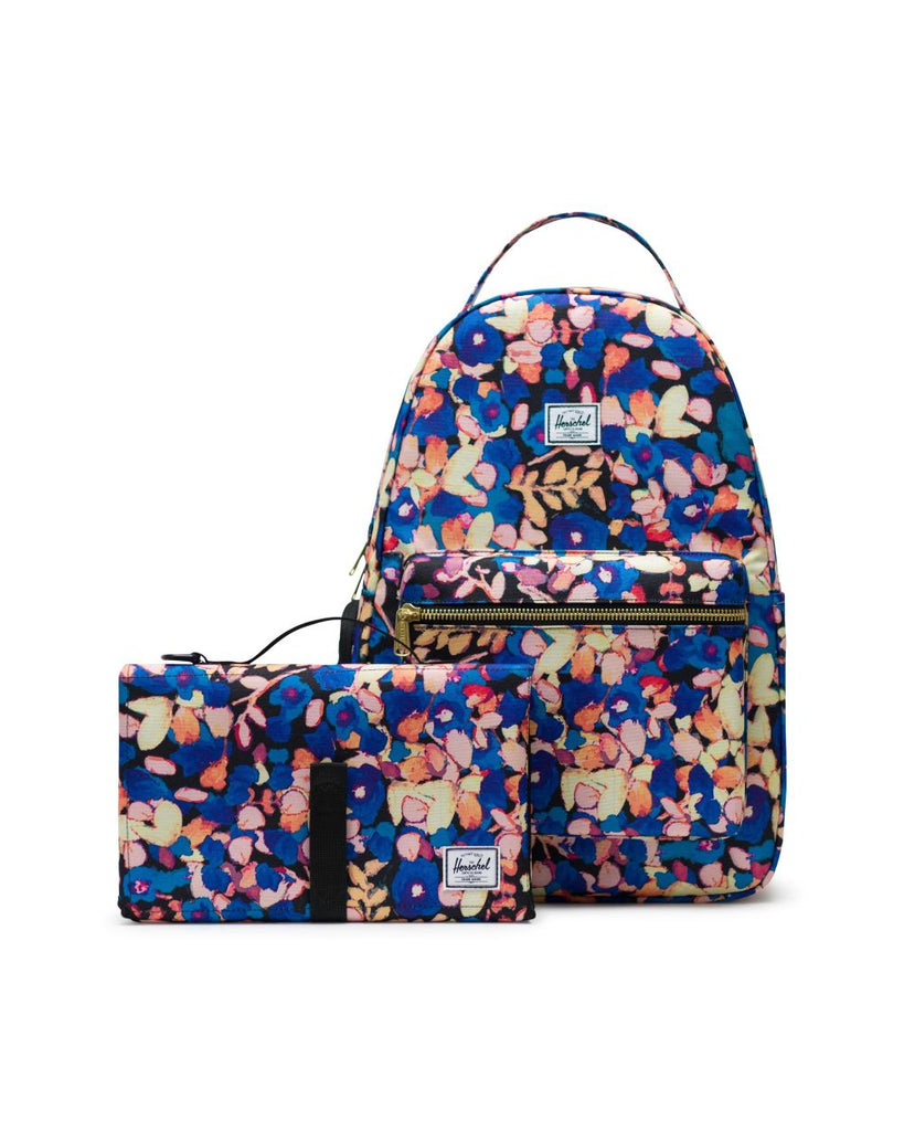 nova painted floral sprout diaper backpack